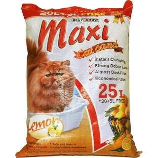 Cat Sand Pasir Kucing Maxi Lemon/ltr