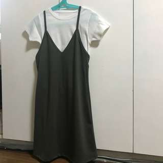 Dress with inner t-shirt