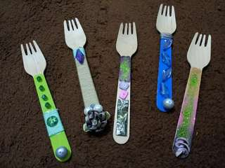 Hand Made Designed Forks