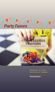 Crayon Party Favors