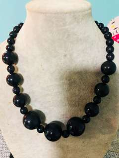 Black colour necklace
