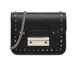 BN Julia Studded Leather Mini Crossbody Bag