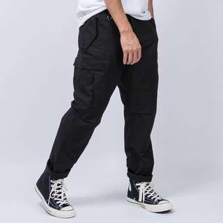 🚚 WIRE 寬版 軍裝六口袋 機能工作長褲 XL