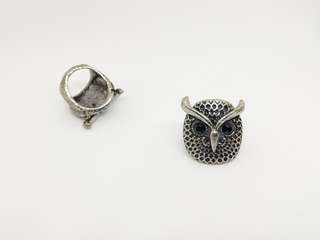 Owl face ring
