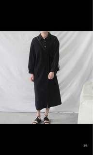 🚚 全新黑色長版襯衫原價600