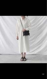 🚚 全新白色長版襯衫原價600