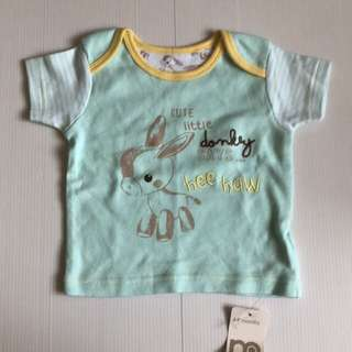 New Mothercare Tee 6-9 mos