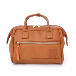 AT-H1021 [Anello] Camel Leather Boston [M] 100 % GENUINE !