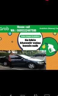 Jasa nebeng mobil (Tarif 80% Lebih murah daei Grabcar)