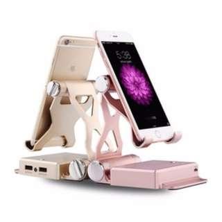 【當日出貨】 2合一手機支架 【手機支架+行動電源】手機支架 行動支架 行動電源 安卓 蘋果通用 10400mAh