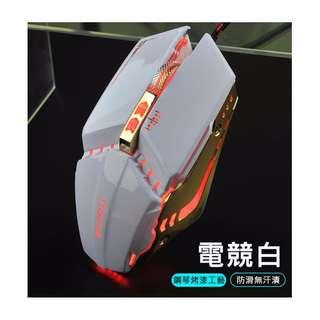 【當日出貨】超酷炫 可自定義 電競滑鼠 有線機械滑鼠 電競遊戲 FPS LOL 鬥陣特攻 玩家必備 呼吸燈 3200DPI