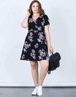 V-Neck Casual Floral Dress