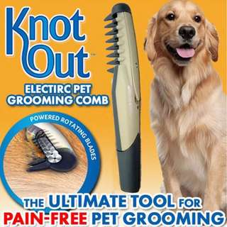 Authentic Knot Out Pet Detangler Comb and Grooming Tool