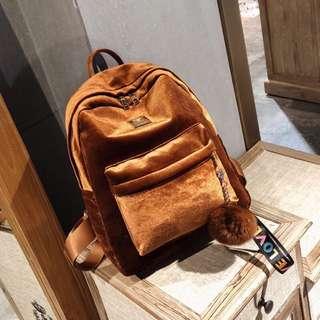 (PO) Mini Velvet Bagpack