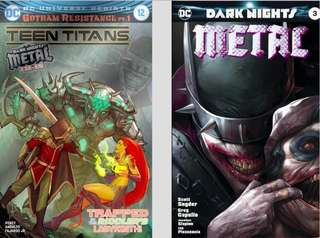 TEEN TITANS #12 & DARK NIGHTS METAL #3 FOIL (PRICE IS FOR EACH) 2SETS LEFT!