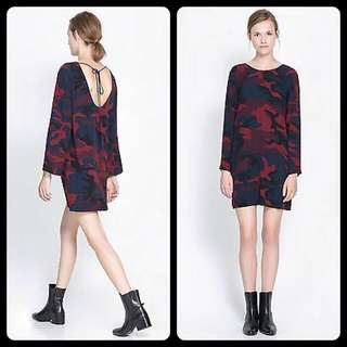 Zara | Camo Print Dress