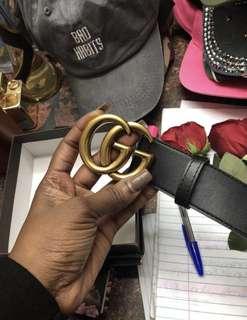 ✔️ GG Gucci LUXURY BLACK LEATHER BELT