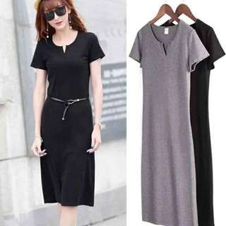 Korean Casual Long Dress
