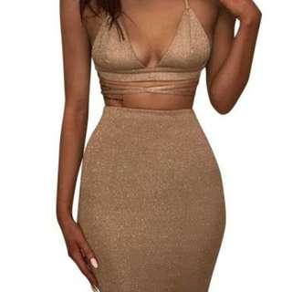 Sexy Sparkle 2 Piece Dress
