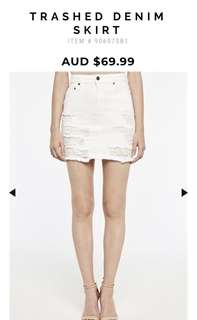 Bardot White Denim Skirt