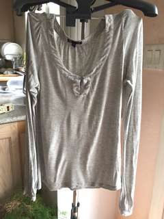 Gap Soft Light Grey Shirt Top M