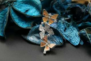 Navia Jewelry Real Butterfly Wing Jewelry Urania ripheus Silver Pendant