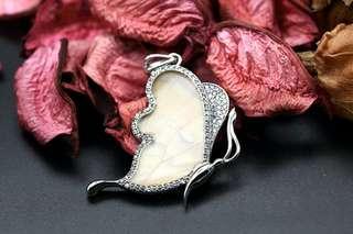 Navia Jewelry Real Butterfly Wing Jewelry Morpho sulkowski Silver Pendant