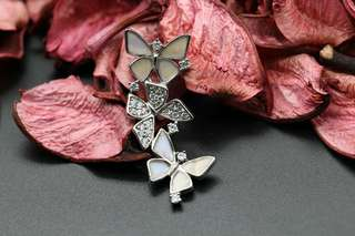 Navia Jewelry Real Butterfly Wing Jewelry Morpho sulkowski Silver Pendant