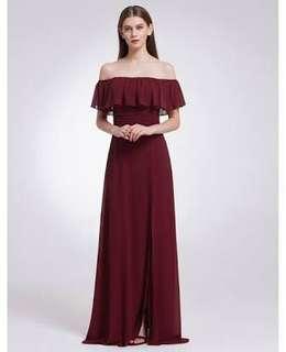 Metallic Purple Long Gown / Dress