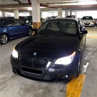BMW 520I Black 2.0A For Rent