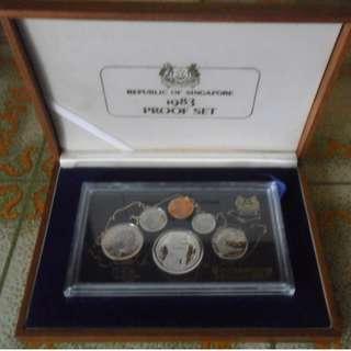 1983 Singapore 1 cent - $1 Proof coin set