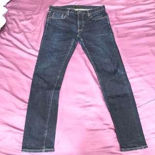 🚚 UNIQLO 牛仔褲 slim fit W34