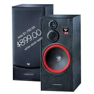 Cerwin-Vega Huge 15″ 3 Way Floorstanding Tower Speaker  (UP $1750) WAREHOUSE PRICE $899 a pair!!! Free Delivery
