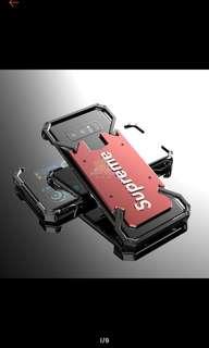 (Po) Samsung Galaxy Note 8 / Note 5 slim metal bumper shockproof hard pc case
