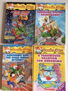 Geronimo Stilton x 4 books
