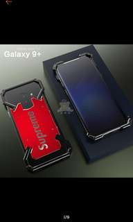 (Po)Samsung Galaxy s8,s9+ slim metal bumper shockproof hard pc phone case