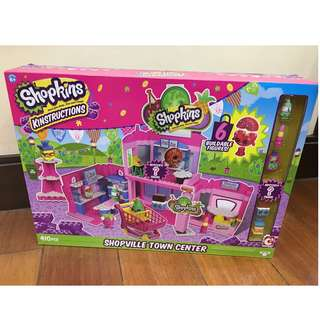 shopkins shopville town center playset NIB