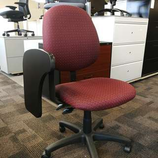 Ergocraft Mid Back Office Tablet Chair in Burgundy