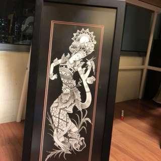 Balinese Artwork: Lady dancing