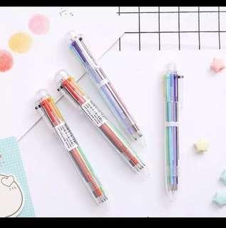 6 in 1 Colour Pen
