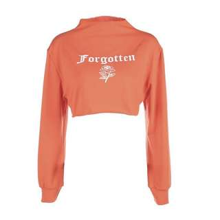 [PO] Orange FORGOTTEN Graphic Long Sleeves Top Sweater