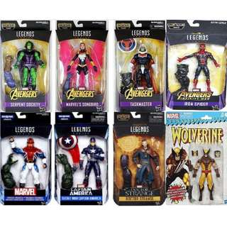 Infinity War Bundle #3: Iron Spider + Doctor Strange + Wolverine + 5 Marvel Legend Figures