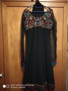 Traditional black indian dress (anarkali)