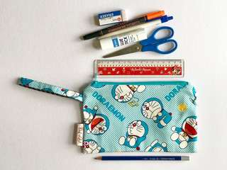 Pouch for any purpose , inner outer Full 100% cotton. Handmade durable and machine washable , YKK zipper pencil case pencil pouch cosmetic pouch