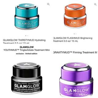 Glamglow mud masks