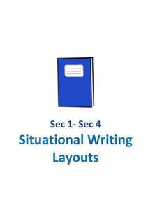 2017 CCHM O Level Situational Writing Layouts / for Secondary 1 to 4 /  O level students / not exam papers / soft copy