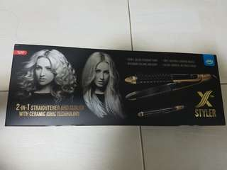 2 in 1 Hair straightener Curler with Ceramic Ionic Technology