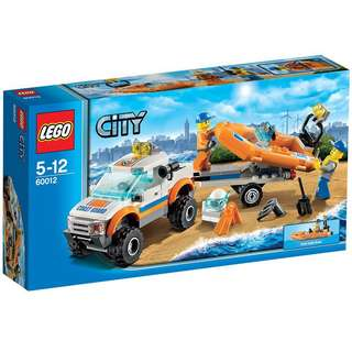 🆕 LEGO 60012 City 4x4 & Diving Boat