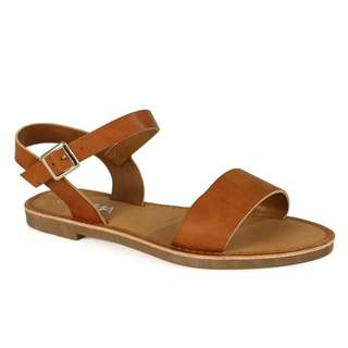Charles and Keith Brown Flat Sandals