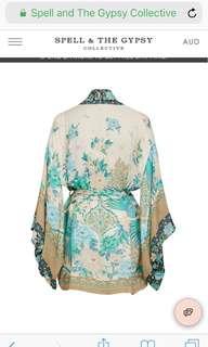 💕Spell designs Cloud Dancer Short Kimono 🌿 Bnwt